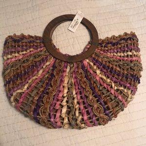 Charming Charlie Woven Basket Bag/Purse